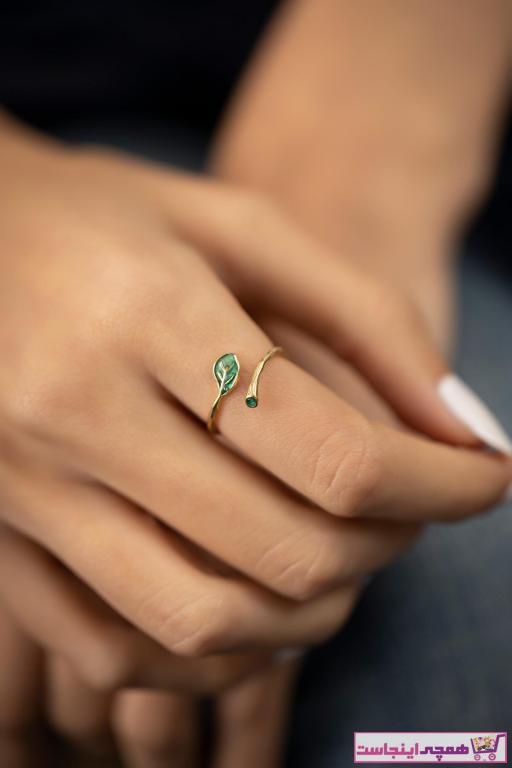 انگشتر شیک زنانه برند İzla Design رنگ نقره کد ty36314684