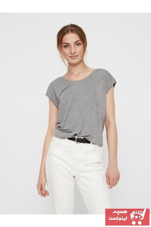 فروش تیشرت زنانه 2021 برند PIECES رنگ نقره ای کد ty36358498