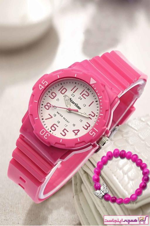 ساعت دخترانه ساده برند Startime رنگ صورتی ty36389610