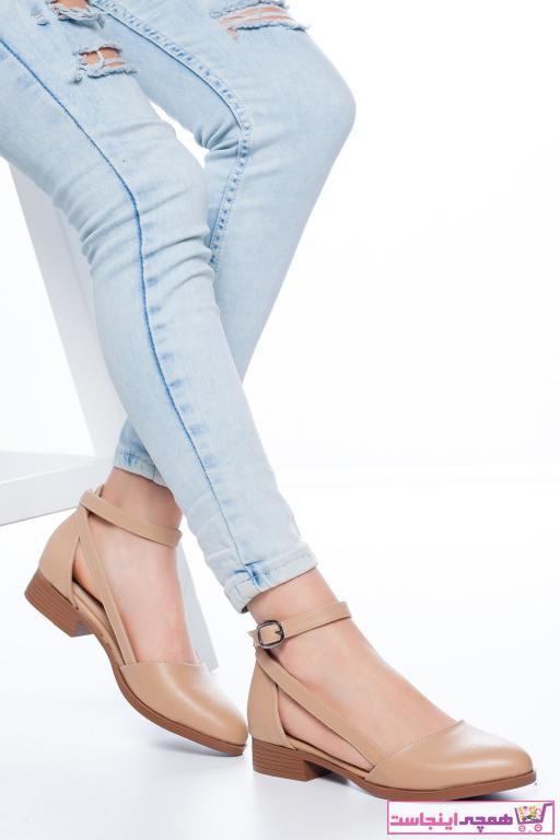 سفارش کفش تخت دخترانه ارزان برند MaskButik رنگ بژ کد ty36394586