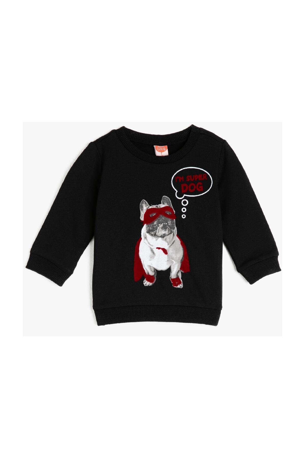 سویشرت نوزاد پسر فروش برند Koton Kids رنگ مشکی کد ty36510512