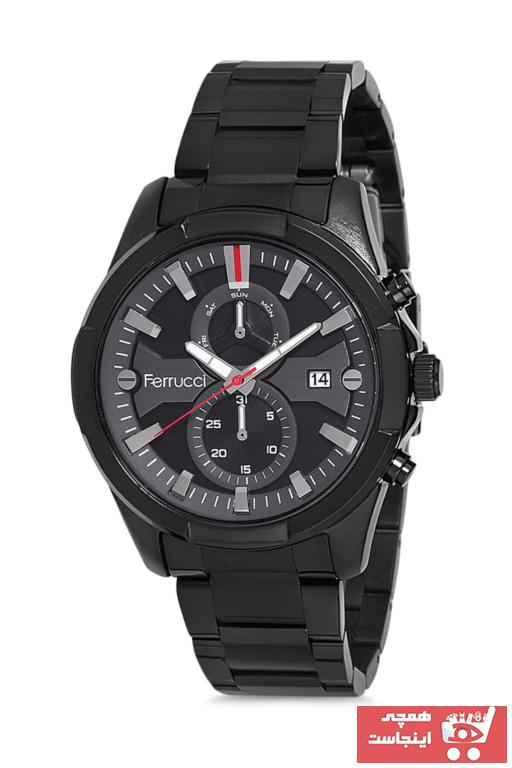 خرید ساعت مردانه ارزان برند Ferrucci رنگ مشکی کد ty36894428