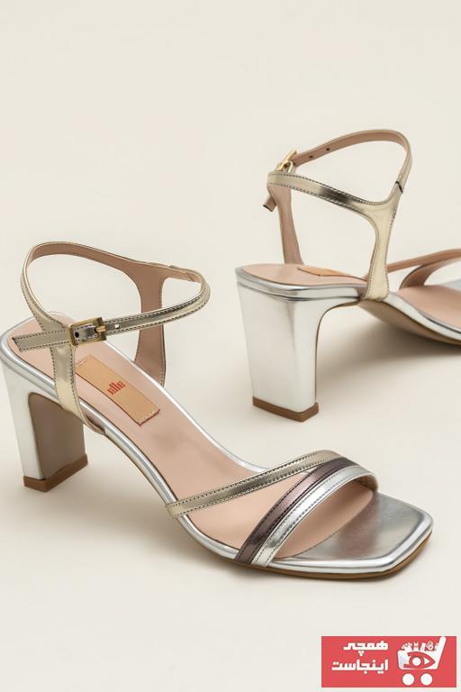صندل زنانه ترک جدید برند Elle Shoes رنگ زرد ty36921517