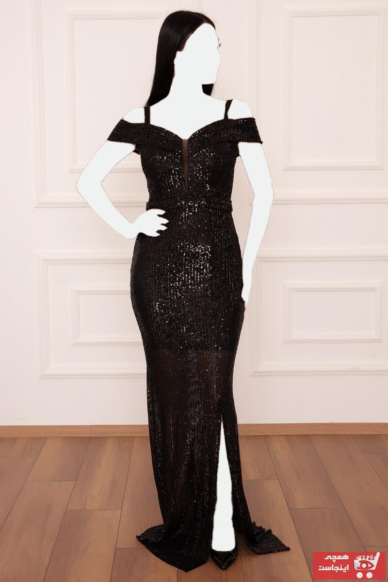 خرید لباس مجلسی زنانه ست برند PULLIMM رنگ مشکی کد ty36956561