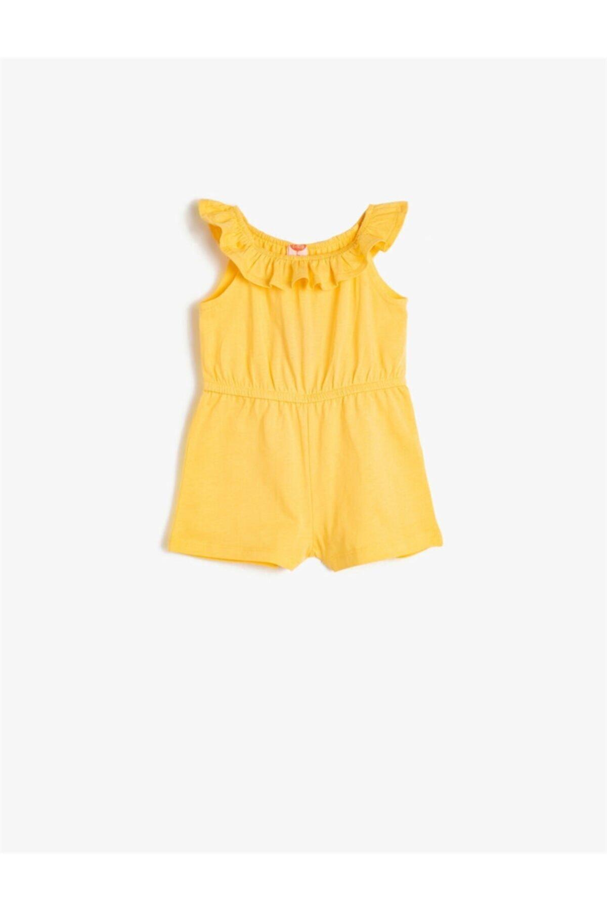 سفارش نقدی تولوم دخترانه برند Koton Kids رنگ زرد ty36977600