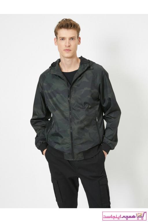 خرید پستی کاپشن شیک مردانه برند کوتون رنگ سبز کد ty37030787