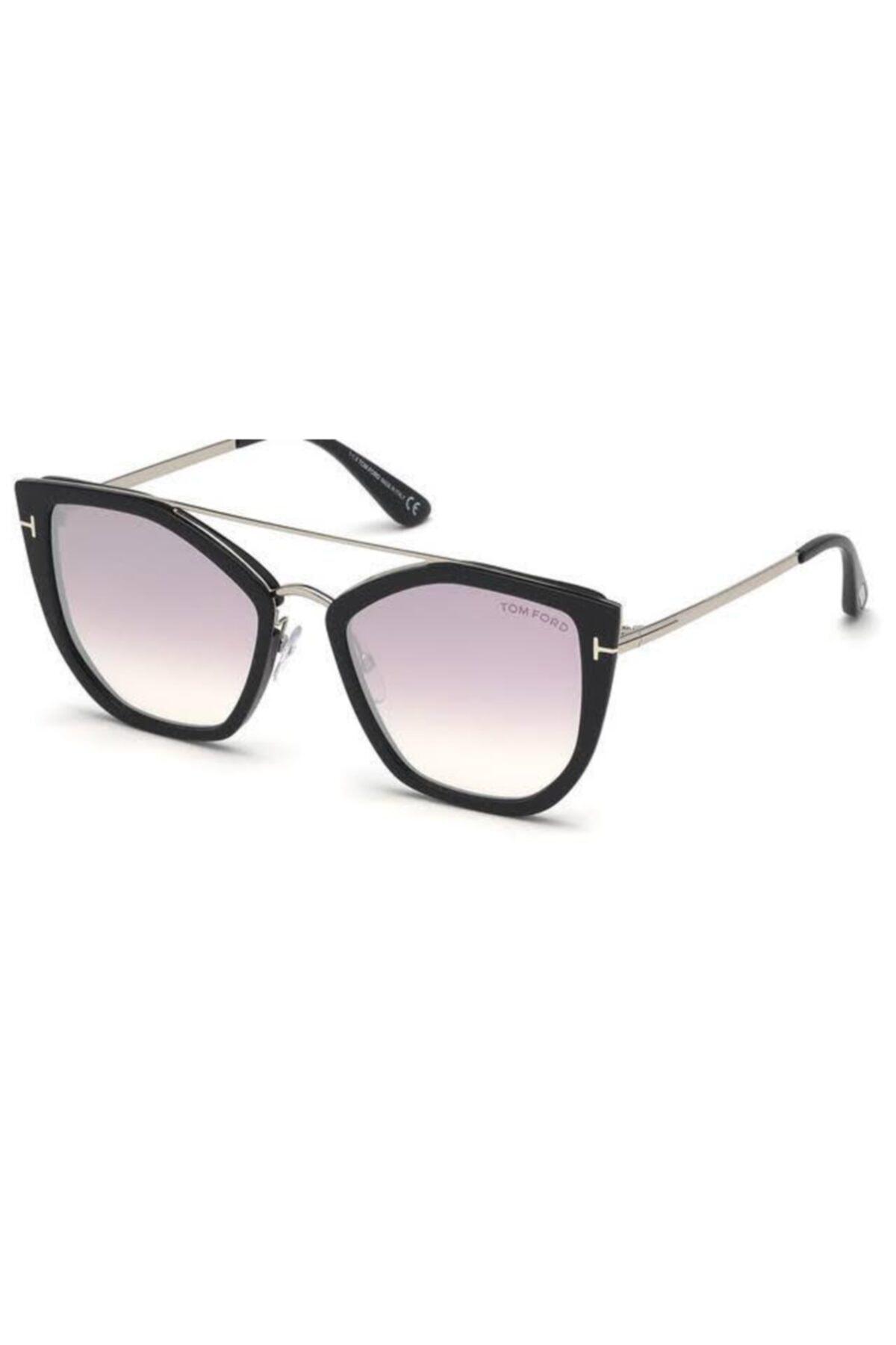 عینک دودی فانتزی مردانه برند Tom Ford رنگ نقره ای کد ty37076076
