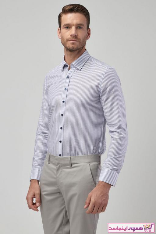 خرید اینترنتی پیراهن خاص مردانه برند ALTINYILDIZ CLASSICS رنگ لاجوردی کد ty37206337