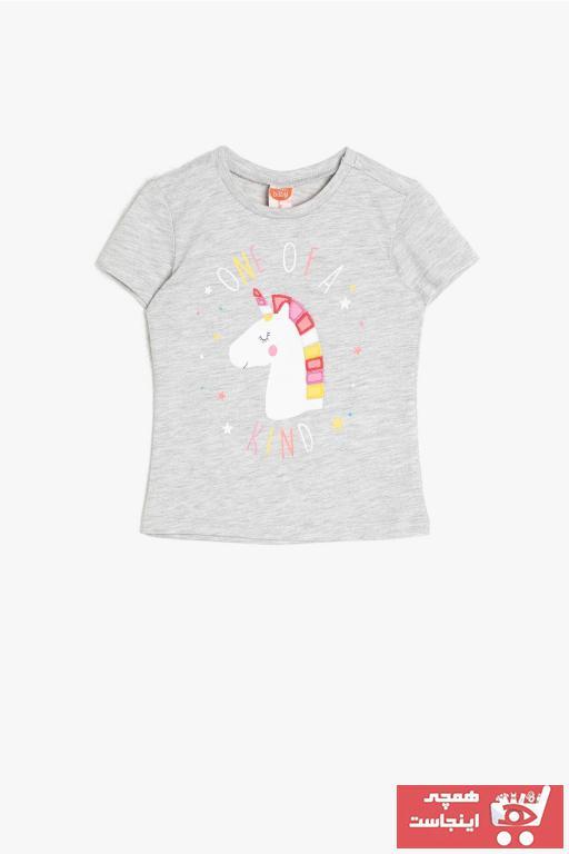 فروش تیشرت نوزاد دخترانه حراجی برند Koton Kids رنگ نقره ای کد ty37243403