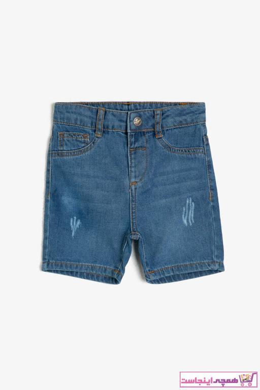 شلوارک نوزاد پسر مارک برند Koton Kids رنگ آبی کد ty37243517