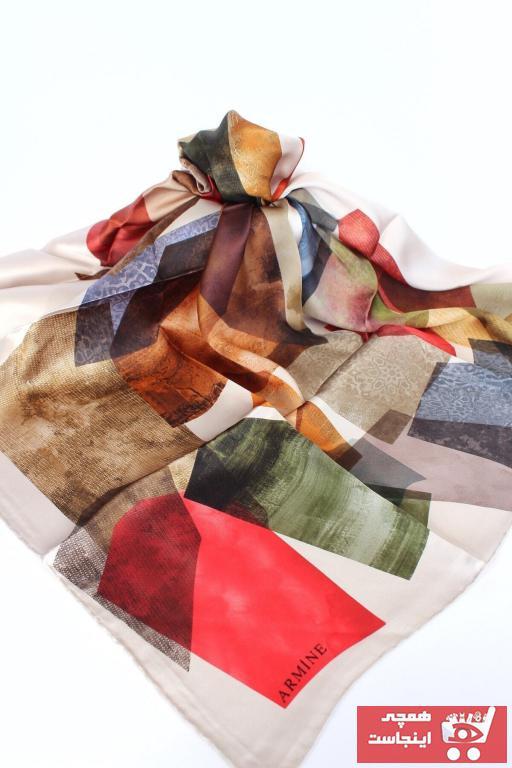 روسری زیبا برند Armine رنگ قهوه ای کد ty37346623