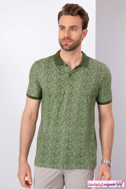 خرید انلاین پولوشرت طرح دار مارک پیرکاردین رنگ سبز کد ty37581935