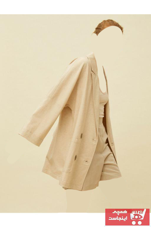 مانتو پاییزی زنانه ارزان برند کوتون رنگ بژ کد ty37620389