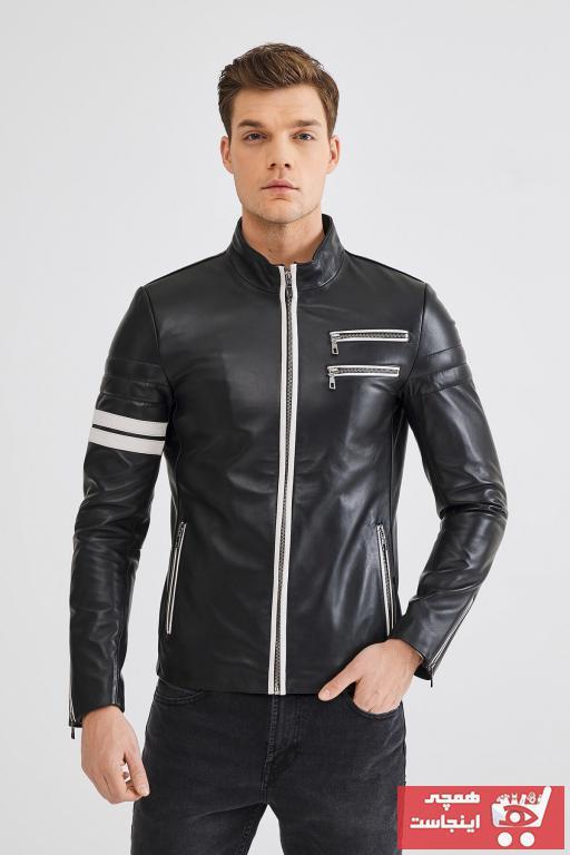 خرید کاپشن چرم مردانه ست برند Deri Company کد ty38106013