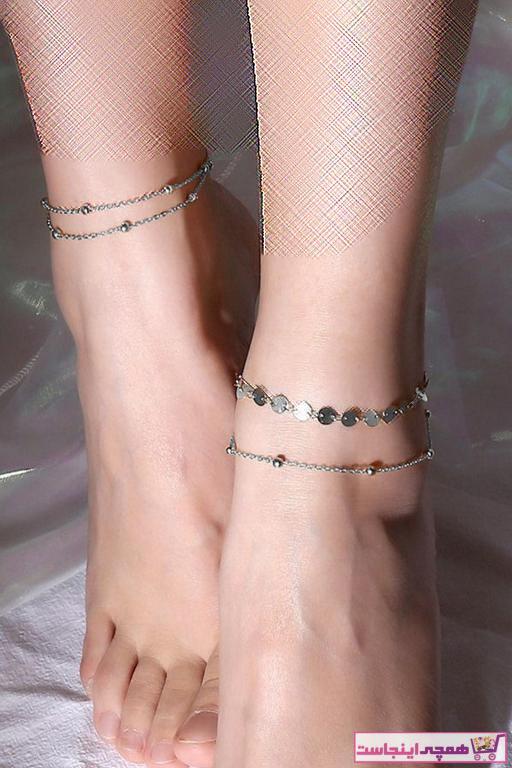 خرید انلاین پابند زنانه فانتزی برند Hane14 رنگ نقره کد ty39239193