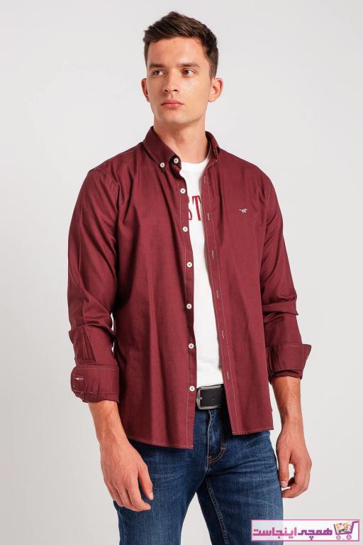 خرید نقدی پیراهن اسپرت مردانه ترک برند موستانگ رنگ زرشکی ty3932651