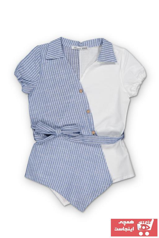 خرید نقدی شومیز نوزاد دختر فروشگاه اینترنتی برند BÜŞRA رنگ آبی کد ty39356201