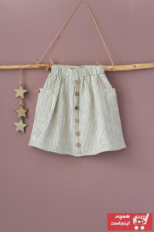 دامن شیک دخترانه برند Cigit رنگ نقره ای کد ty39792461