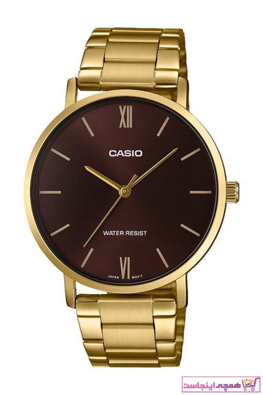 خرید ساعت مردانه جدید برند Casio رنگ طلایی ty39917362