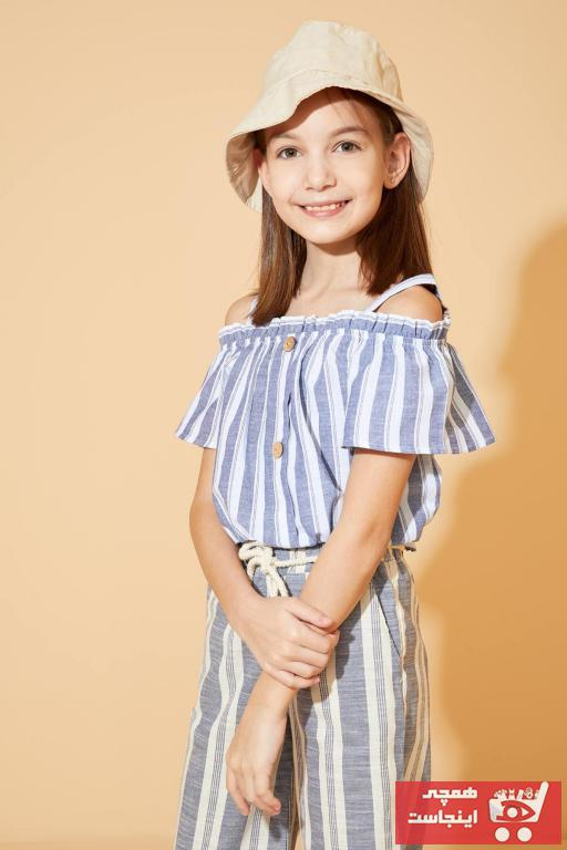 خرید بلوز دخترانه برند دفاکتو رنگ آبی کد ty40120257