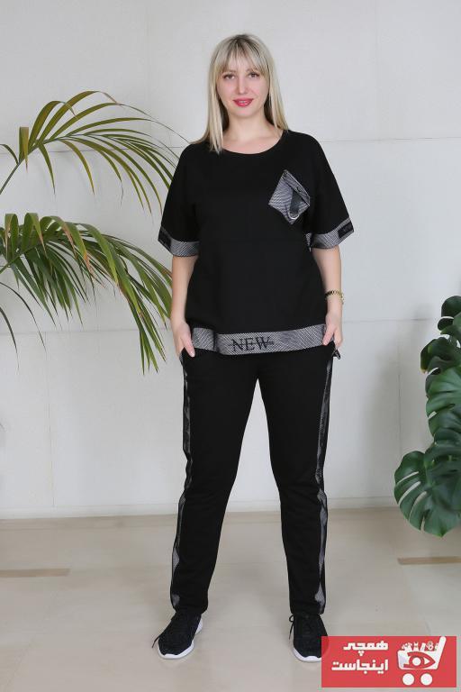 خرید اسان ست ورزشی زنانه پیاده روی جدید برند New Color رنگ مشکی کد ty40287288