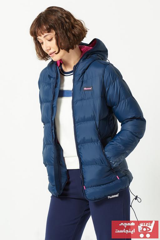 خرید انلاین کاپشن ورزشی زنانه طرح دار مارک هومل رنگ آبی کد ty4033819