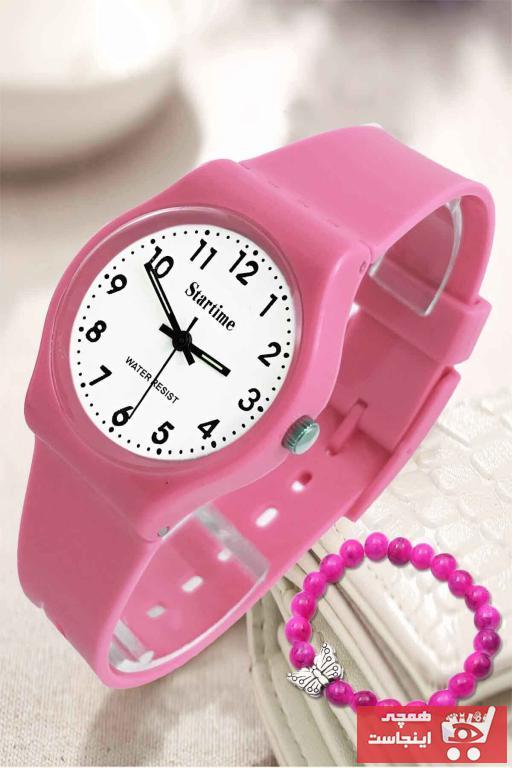 خرید پستی ساعت زیبا برند Startime رنگ صورتی ty40413519