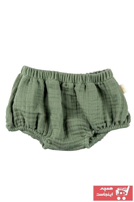 شلوارک نوزاد دختر اینترنتی برند Miela Kids رنگ سبز کد ty40547581
