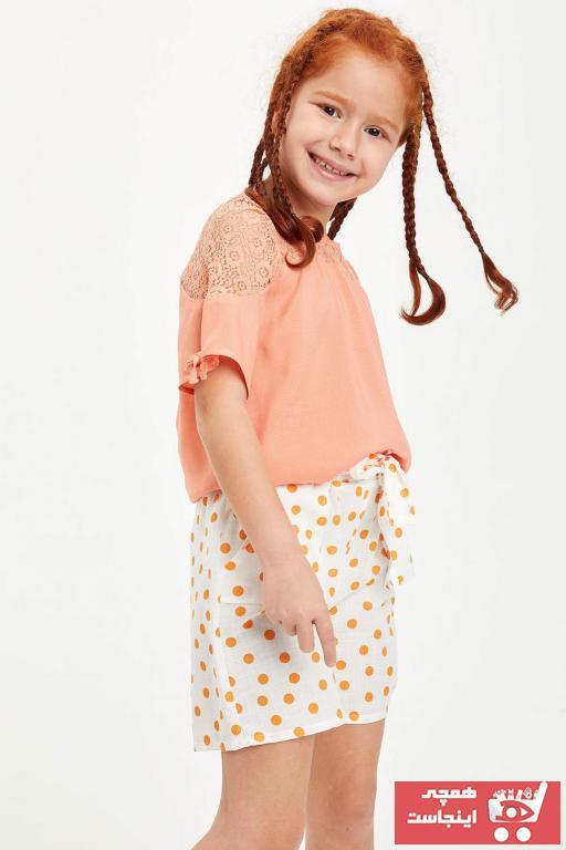 خرید نقدی بلوز دخترانه فروشگاه اینترنتی برند دفاکتو ترک رنگ نارنجی کد ty40578627