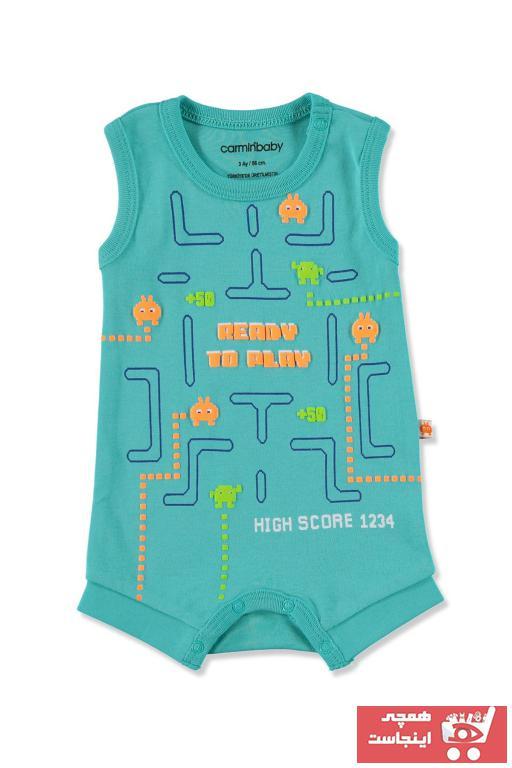 سرهمی نوزاد پسرانه شیک مجلسی برند Carmin Baby رنگ سبز کد ty40589370