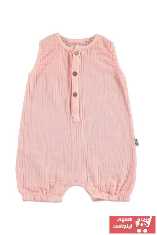 خرید سرهمی نوزاد دخترانه شیک برند Bebemania رنگ صورتی ty40589673