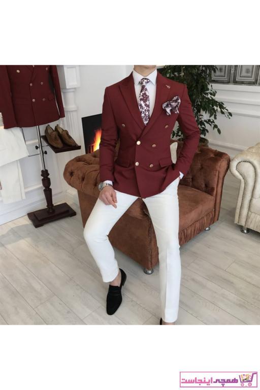 کت تک مردانه ترک جدید برند TerziAdemAltun رنگ زرشکی ty40983550