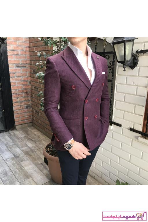 کت تک مردانه  برند TerziAdemAltun رنگ زرشکی ty41153613