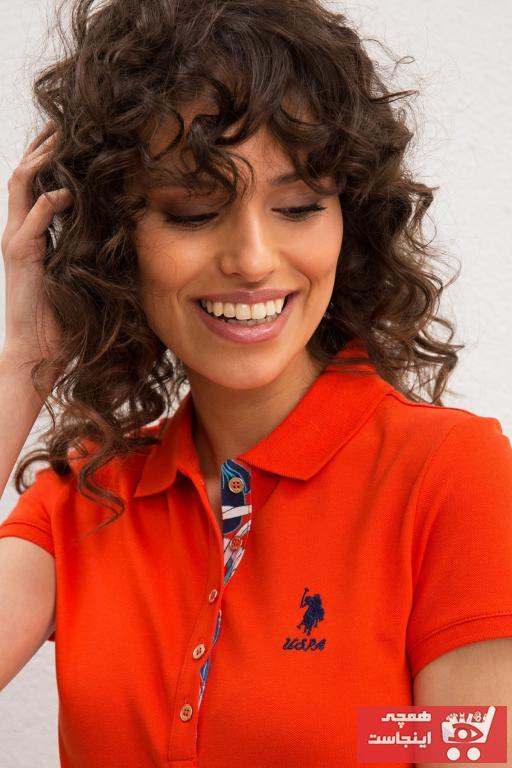 خرید ارزان پولوشرت زنانه اسپرت برند U.S. Polo Assn. رنگ نارنجی کد ty41654385