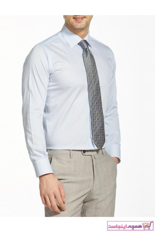 خرید نقدی پیراهن کلاسیک مردانه فروشگاه اینترنتی برند Bisse رنگ آبی کد ty41838393