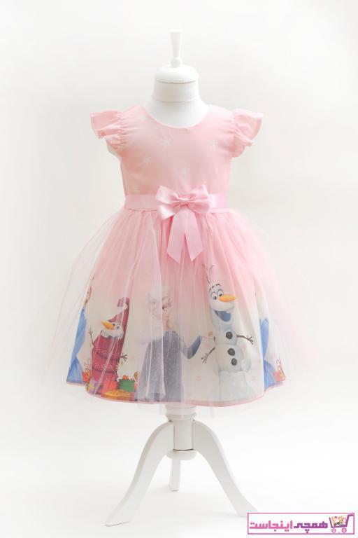 لباس مجلسی دخترانه خاص برند meneviş رنگ صورتی ty41854313