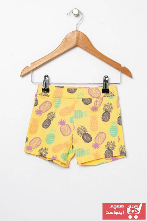 فروش شلوارک نوزاد دخترانه حراجی برند Mammaramma رنگ زرد ty42035287