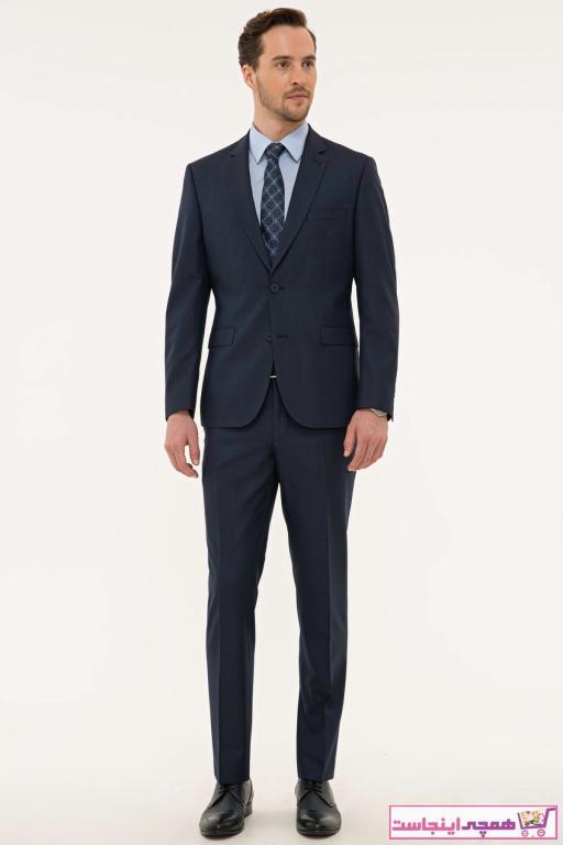 کت شلوار اورجینال مردانه مارک پیرکاردین رنگ لاجوردی کد ty42333403