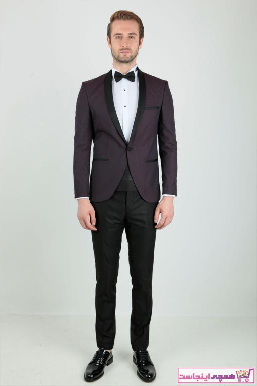 خرید انلاین کت شلوار مردانه خاص برند Centone رنگ زرشکی ty42336197