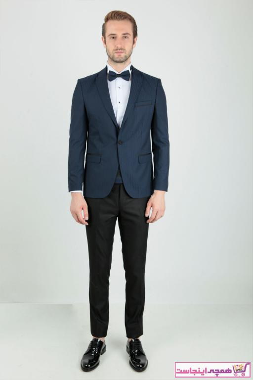 خرید اینترنتی کت شلوار مردانه برند Centone رنگ لاجوردی کد ty42336217