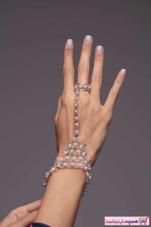 خرید نقدی دستبند انگشتی زنانه فانتزی برند Ninova Silver رنگ نقره کد ty4239278