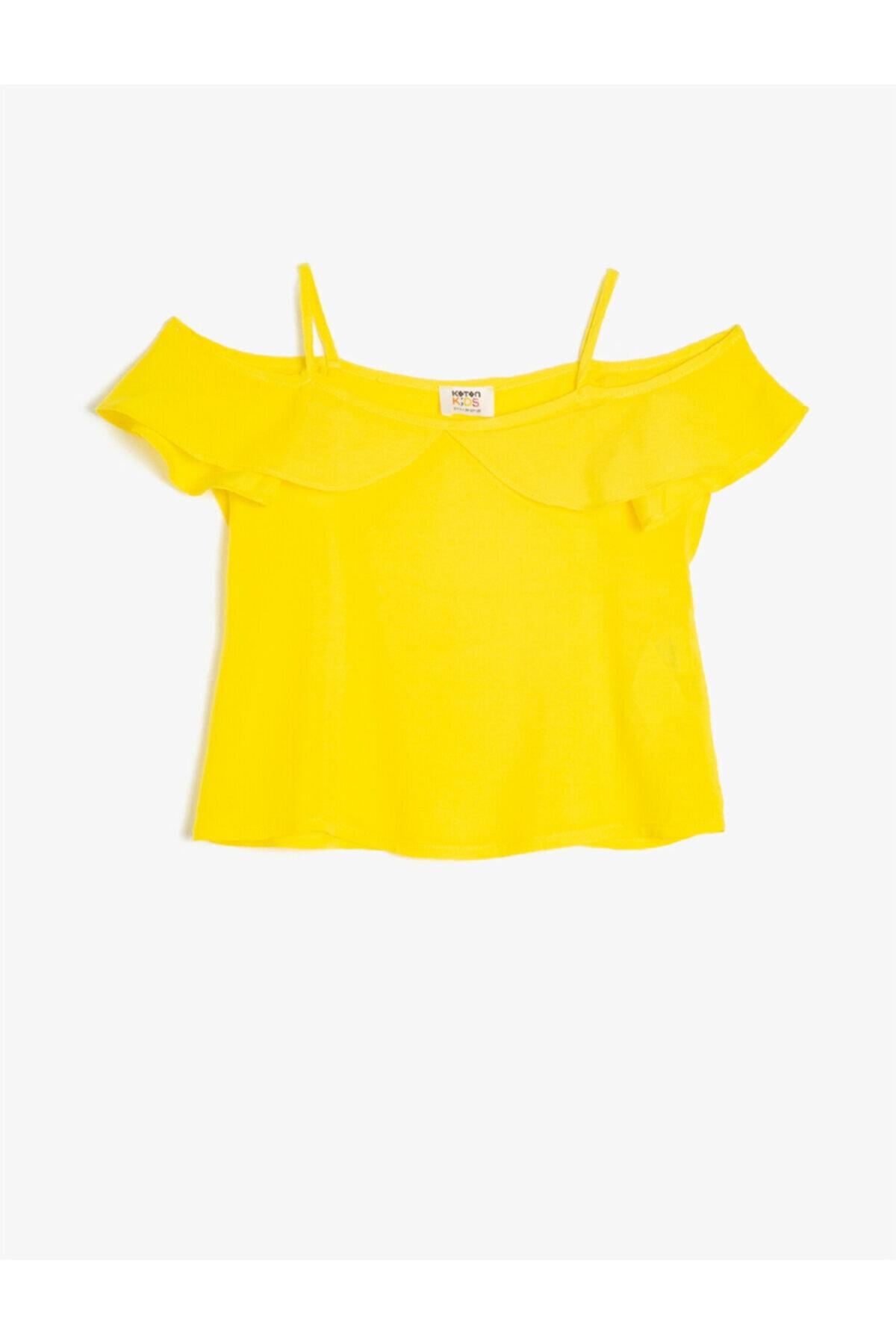 فروش انلاین بلوز دخترانه مجلسی برند کوتون رنگ زرد ty42585902
