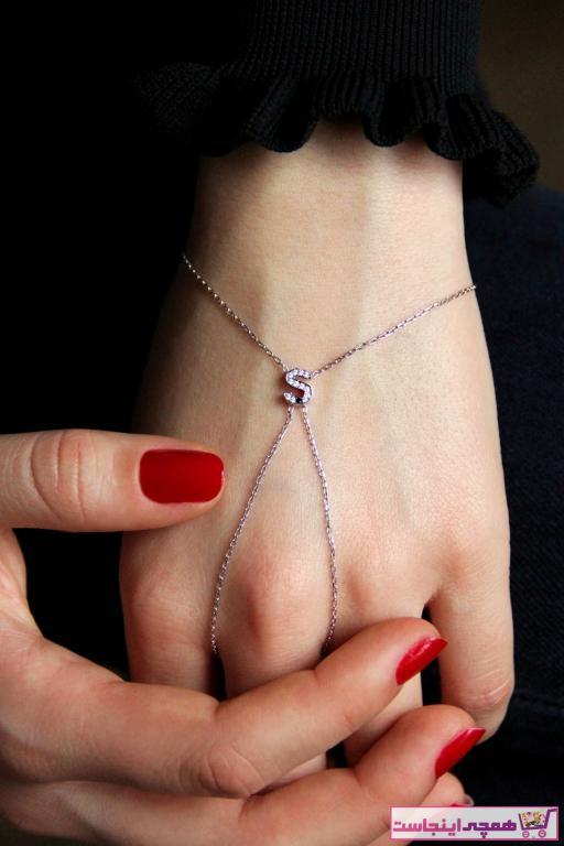 دستبند انگشتی جدید زنانه شیک برند Argentum Concept رنگ نقره کد ty42699514