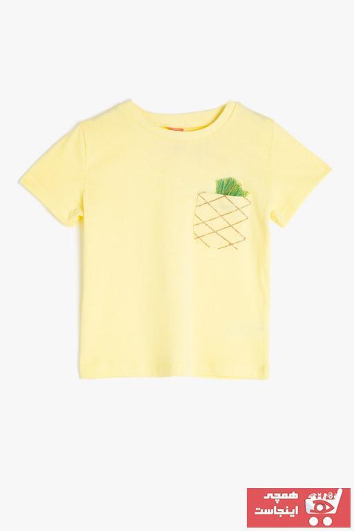 خرید نقدی تیشرت نوزاد دخترانه ترک  برند Koton Kids رنگ زرد ty42761412