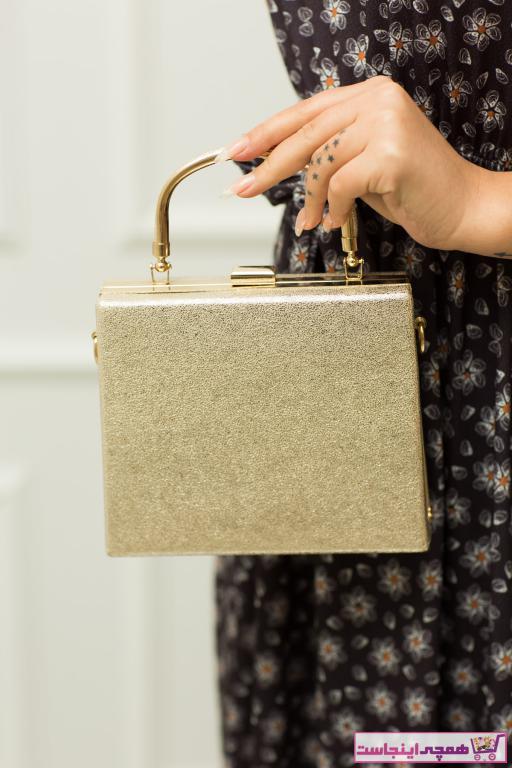 کیف مجلسی ساده زنانه برند weem bag رنگ طلایی ty43348820