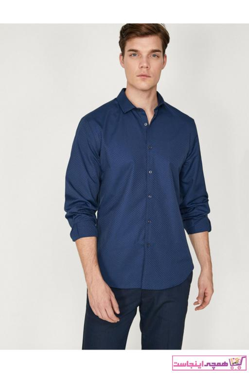 پیراهن مردانه تابستانی برند کوتون رنگ لاجوردی کد ty4361636