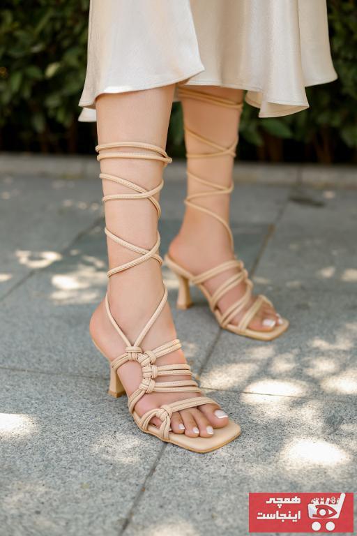 کفش پاشنه بلند مجلسی زنانه ترک برند MYPOPPİSHOES رنگ بژ کد ty45712969