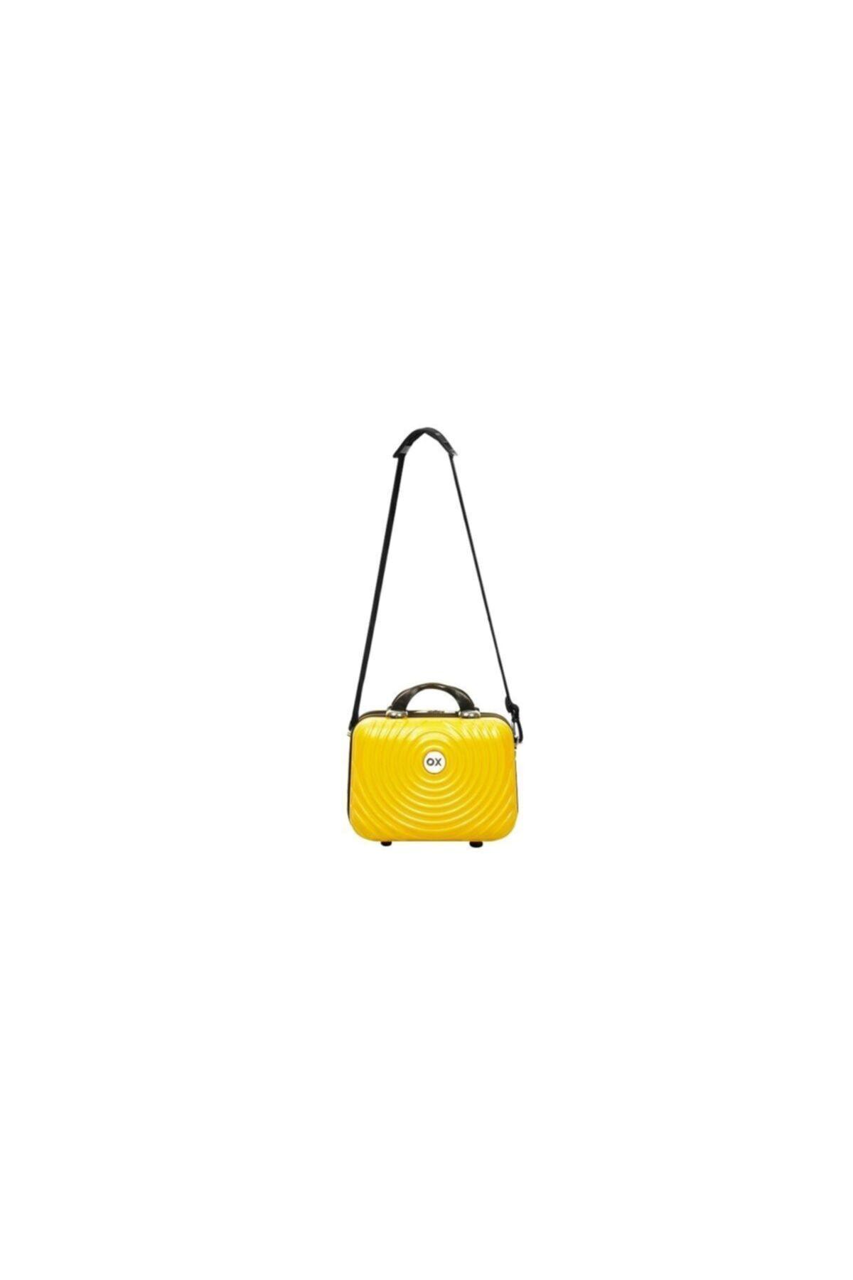 خرید نقدی کیف لوازم آرایش جدید برند OX رنگ زرد ty45980111