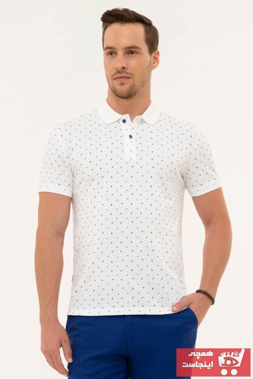 فروش پولوشرت مردانه جدید برند پیرکاردین رنگ لاجوردی کد ty46162795