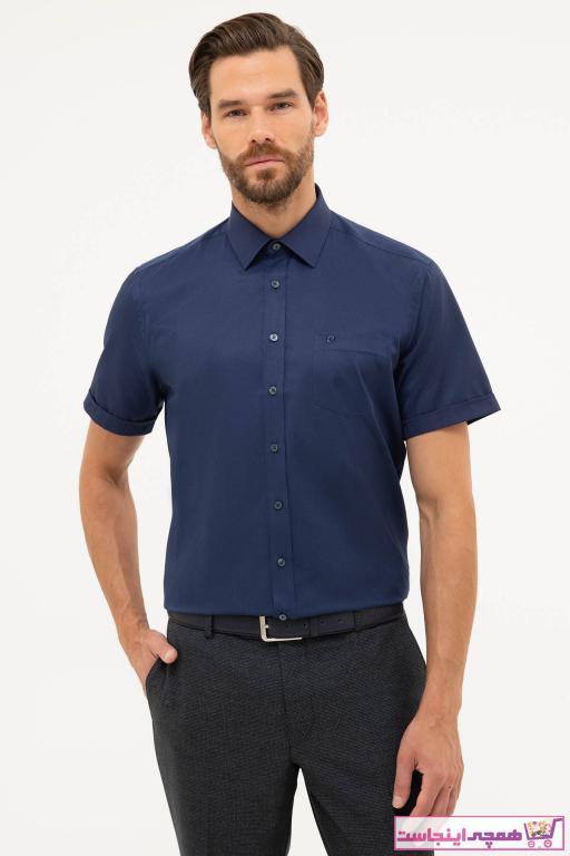 پیراهن اسپرت مردانه فانتزی مارک پیرکاردین رنگ لاجوردی کد ty46162805